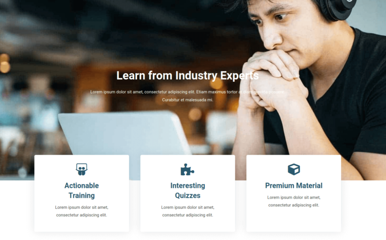Learn from Industry Experts