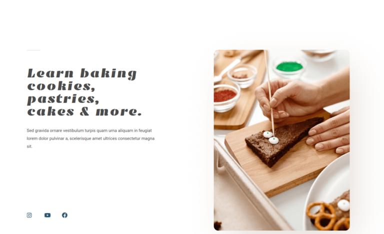 Learn baking cookies