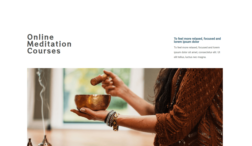Online Meditation Courses