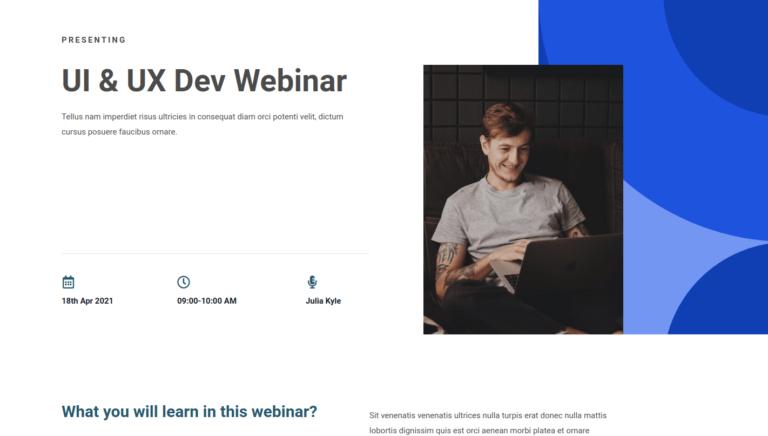 UI & UX Dev Webinar
